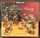 Huge Christmas Porcelain Nativity 10 Piece Kirkland Sig 399707 Retired NEW