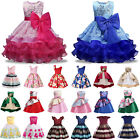 Kids Baby Flower Girls Princess Bridesmaid Tutu Dress Party Wedding Ball Gown