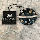 NEW SWAROVSKI SWAN CELESTIAL PIN GREEN ENAMEL STARS MOON PLANET RETIRED