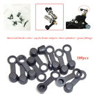 100×Motorcycle Car brake Caliper Bleeder Screw grease fitting Cap Dust Cover 8MM