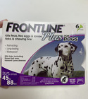 3 Doses Frontline Plus for Dogs Large Dog 45 to 88 pounds Flea Tick Treatment