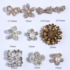 120PCS Chic Rhinestone Buttons With Ivory Beads For Hair Accessories Crystal