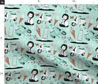 Italy Italian Leaning Tower Scooter Gelato Fabric Printed by Spoonflower BTY