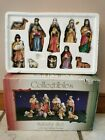 10 Pc Nativity Set Handpainted Porcelain Collectibles Christmas