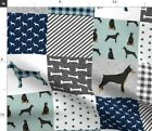 Doberman Pinscher Dogs Nursery Quilts Baby Fabric Printed by Spoonflower BTY
