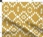 Triangles Geometric Navajo Aztec Native Fabric Printed by Spoonflower BTY