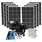 Solar Power Swimming Pool Heating Pump Kit 500W Water Pump +8100W Solar Panel