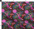Native Flowers Australian Bugs Insects Animals Fabric Printed by Spoonflower BTY