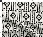 Panel Black White Native Holli Zollinger Fabric Printed by Spoonflower BTY