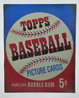 TOPPS Baseball Picture Card Gum Wrapper 5 Cent Retro Metal Tin Sign 13x16