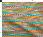 Native American Tribal Pattern Navajo Boho Fabric Printed by Spoonflower BTY