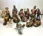 Made in Italy 16 Piece Plastic Nativity Set Rare Set
