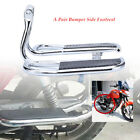 2×Left+Right Motorcycles Footrest Bumper Shelf Rear Foot Board Pedal For Honda