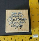 Stampendous Rubber Stamp CHRISTMAS JOY Holiday Greeting Words Phrase Love