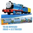 TOMY THOMAS & FRIENDS MOTORIZED TOY TRAIN TS-02 EDWARD W/ 2 TRUCKS- USA SELLER