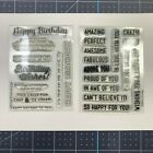 Simon Says Stamp Clear Stamps On Edge  Birthday Messages
