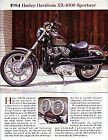 1984 Harley Davidson XR-1000 Sportster Motorcycle Article - Must See !!