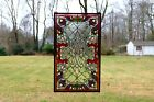 2025W x 34H Handcrafted Beveled stained glass window panel