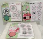 Just Rite Unmounted PLANTS TREATS Food Love Kaleidoscope Rubber Stamps Sets Lot