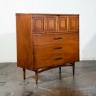 Mid Century Modern Highboy Dresser Broyhill Sculptra Tall High Brazilia Vintage