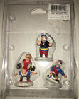 New Lemax Christmas Village 4 Elves At Play , Leap Frog, Elf Figurines