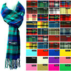 Womens Mens Winter 100 Cashmere Plaid check Scarves Wool Scarf Scotland Made