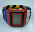 E Shhors Stainless WR30M LCD Multicolor Lego Watch Untested