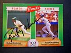 Rickey Henderson - 1992 French's Autograph Baseball card # 17 - Oakland A's - OF