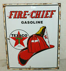 Texaco Fire Chief Vintage Style Porcelain Signs Gas Pump Man Cave Station #2