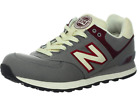 NEW BALANCE ML574RUB CLASSICS Mens Shoes Canvas Grey Red D Sneakers Vintage