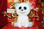 TY BEANIE BOOS TUNDRA THE POLAR BEAR.MEDIUM BUDDY.9