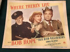 Where Theres Life 1947 Paramount 11x14 comedy lobby card Bob Hope Signe Hasso