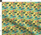 Australian Unique Exotic Native Animals Fabric Printed by Spoonflower BTY