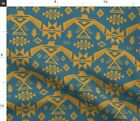 Boho Bohemian Tribal Aztec Native American Fabric Printed by Spoonflower BTY