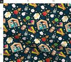 Nativity Set Christmas Creche Catholic Jesus Fabric Printed by Spoonflower BTY