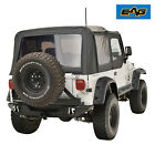EAG Offroad Rear Bumper W/Secure Lock Tire Carrier Fit 87-06 Jeep Wrangler TJ YJ