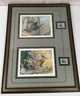 Ned Smith 1981 Whitetail Deer  Wild Turkey PA Stamps Prints Signed  Framed