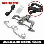 Stainless Exhaust Headers Manifold System For 1991 02 Jeep Wrangler TJ