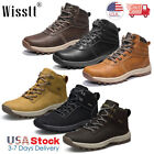 Mens Winter Snow Work Boots Waterproof Leather Lace Up Martin Boots Ankle Shoes