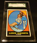 AFL LANCE ALLWORTH 1967 TOPPS # 123 SGC 7 GRADED CARD CHARGERS
