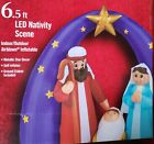 NEW Christmas PreLit 65 Foot LED Nativity Scene Inflatable Airblown Jesus Mary