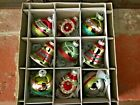 New Christopher Radko Shiny Brite 9ct Glass Christmas Ornaments Indents Bells