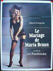 THE MARRIAGE OF MARIA BRAUN FASSBINDER SCHYGULLA ORIGINAL FRENCH POSTER 47x63