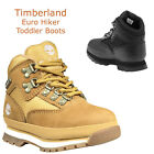 Kids Timberland Boots Euro Hiker Black Wheat Leather Boots Toddler Sizes NEW