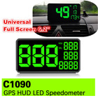 62 LED Car HUD Head Up Display KM h Over Speed Warning GPS Speedometer