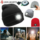 Winter LED Flash Knitted Cap 3 Modes Camping Fishing Unsiex Headlamp Beanie Hat