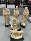 Bianchi Italy Resin Nativity 3 Wise Men Figurines Or 3 Kings Joseph Lambs