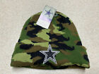 Dallas Cowboys Authentic Salute to Service Knit Military Beanie Camo Ski Cap Hat