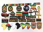 34 Pcs Rasta African Embroidered Patches iron on and sew on
