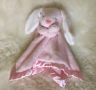 Carters Pink Baby Lovey Security Blanket Bunny White Floppy Ears Satin Trim